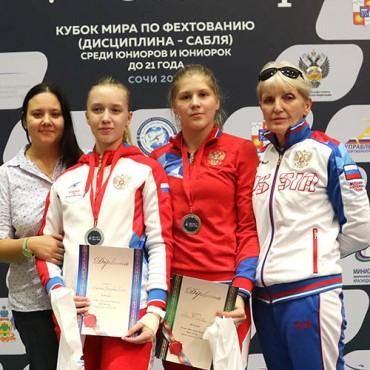 Бронзовая медаль этапа Кубка мира из Сочи