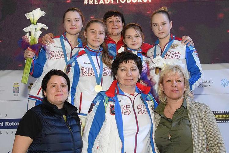 Рапиристки — чемпионки кадетского Первенства Европы