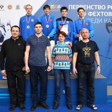 Золото саблистов на Первенстве России среди кадетов