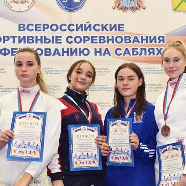 Бронзовая медаль саблистки из Санкт-Петербурга